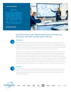 Conference Room Networked AV   AMX Audio Video Control Systems